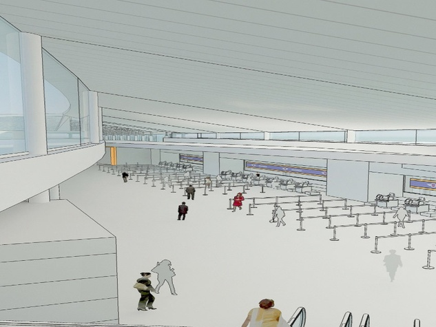 Hobby Airport Southwest Airlines new international hub rendering check-in hall