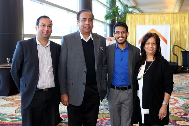 4 Apurva Dholabhi, from left, Peter Kesh, Amer Kumar and Urmila Kumar at the 1 Million Dollars lunch for Good February 2015