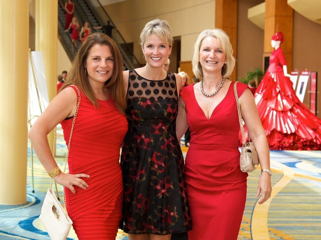Montgomery County Go Red for Women 2015 Allegra Blanchard, Sondra Ruhman, and Tracy Wilken