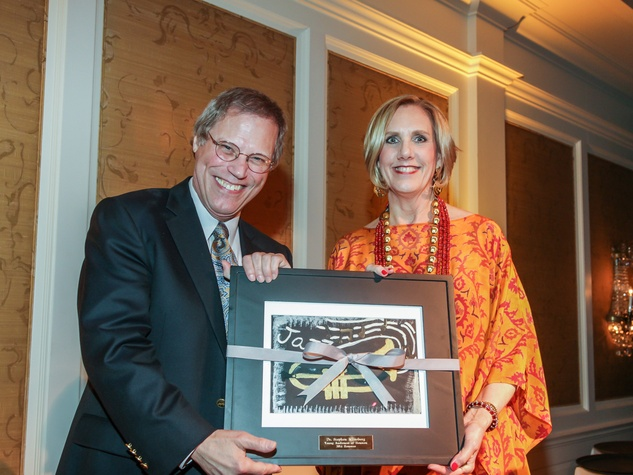 Stephen Klineberg and Sharon Bryan at the Young Audiences of Houston Gala April 2014