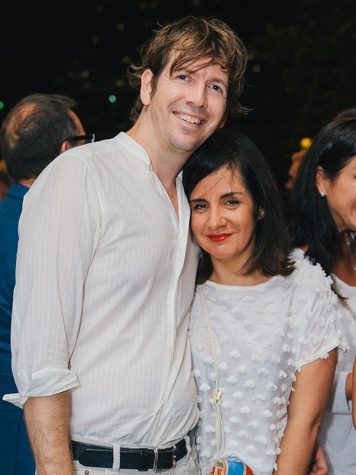 7 Steven Hempel and Michelle Avinz at Ceron 50th birthday party August 2014