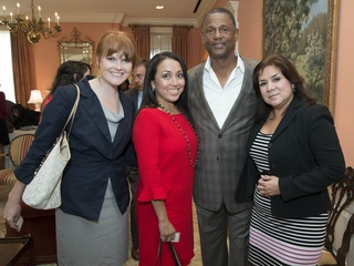 7 HEART Program Luncheon Houston May 2013 Jordann Hubert, Diana Espitia, Willie Alexander, Terry Morales