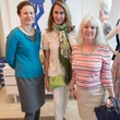 Heather MacDonald, Barbara Durham, Art in Bloom 2014 chairman, Susan Fisk, art in bloom