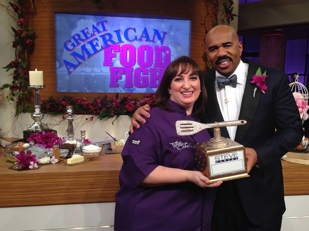 Nadine of Who Made the Cake! February 2014 with Steve Harvey