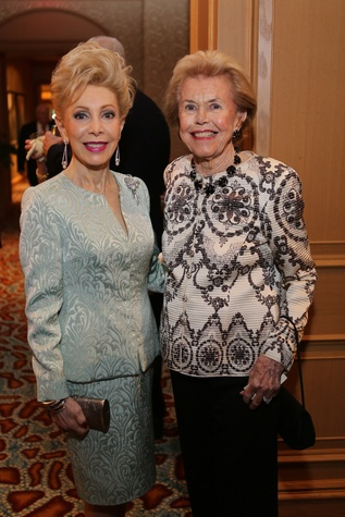 Margaret Alkek Williams, left, and Louise Cooley at the Dr. Bud Frazier event May 2014