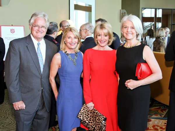 Salvation Army luncheon, November 2012, Downing Mears, Lisa Mosbacher Mears, Kathi Mosbacher Wheeler, Lynn Wilson