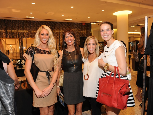 17 Vanessa Wilcox, from left, Denise Welker, Deborah McInnis and Tiffany Welker at The Orange Show's A Couture Cause party