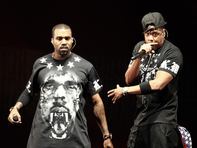Kanye West and Jay Z together in Watch the Throne tour 2011