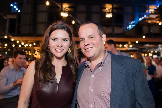 Sara Cain and Mark Donaldson at the RedBuds Membership Drive October 2014
