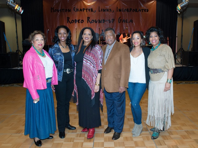 Boots and Bling Drucie Chase, Winnel Herron, Carolyn Codwell, County Commissioner Gene Locke, Arvia Few and Diedre Fontaine
