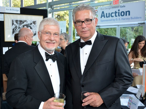 Rice Design Alliance gala, October 2012, Larry Whaley, George Pontikes