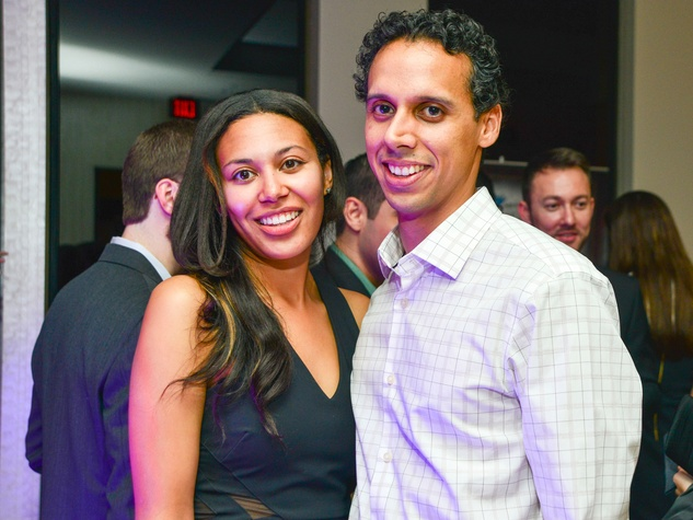 Nicole Neal and Jose Ortiz at the Young Professionals Backstage party January 2014