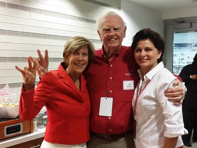 News, Shelby, UH Stadium Suite Life, Sept. 2014, Carroll Ray, Bill Yeoman, Beth Madison