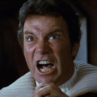 William Shatner as Captain Kirk in Star Trek II the Wrath of Khan