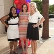 Manju Alexander, Nicole Farrar and Anne Lacy, partners card kickoff