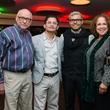 News, Alley Theatre Christmas Tree party, Nov. 2015 Bruce Coy, Paul Martinez, Alex Lopez, Jasmine Walker;