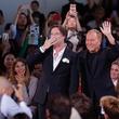 Rufus Wainwright and Michael Kors at Michael Kors runway show