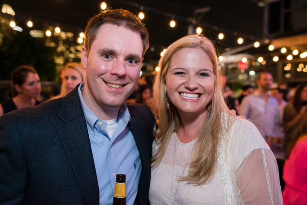 Blake Telg and Katie Campbell at the RedBuds Membership Drive October 2014