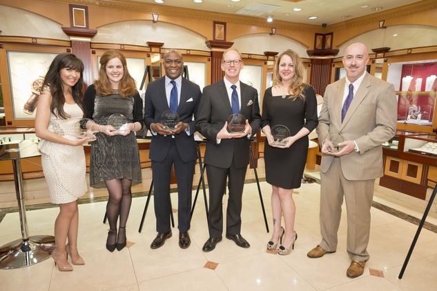 7. Hasti Taghi, from left, Beverly Barrett, Ewart G. Jones Jr., Aaron Reimer, Kathryn Lott and Joseph Schreiber at the Houston Grand Opera Ovation Awards April 2015