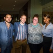 13 Kevin Pope, from left, Corey Hecksel, Tracy E. Smith and April Nelson at the MFAH Art Crowd party September 2014