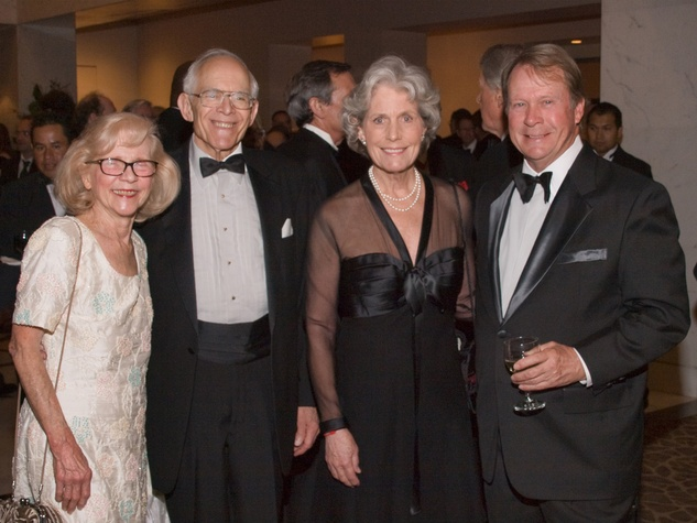 Shirley and James Dannenbaum, from left, Beth Robertson and Steve Pearce at the Welch banquet October 2014