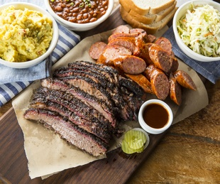 Houston, Pappas Bar-B-Q, October 2017, Brisket, sausage and sides