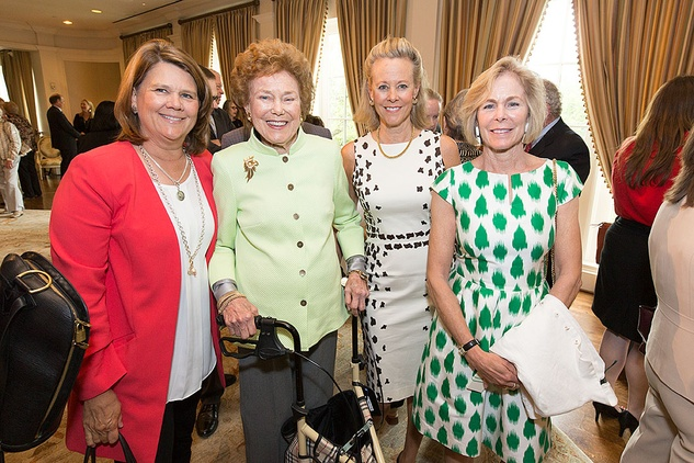 VEPS Luncheon, March 2016, Phoebe Muzzy, Helen Vietor, Jennifer Evans, Page Winstead