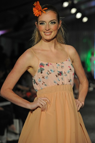 A model at West Ave Fashion on the Avenue March 2014