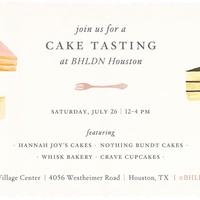 BHLDN Cake Tasting Event