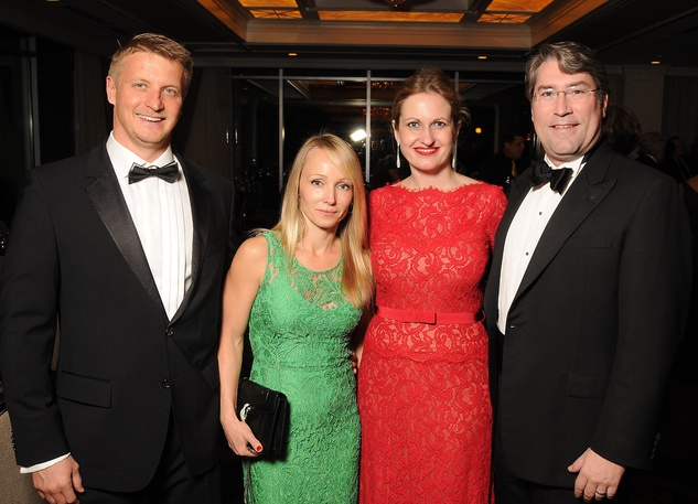 15 Mike and Kate Amtonov, from left, and Anastasia and Preston Marshall at the Petroleum Club of Houston Grand Opening Celebration February 2015