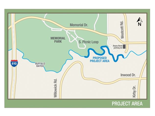 Memorial Park Demonstration Project map dated December 2013