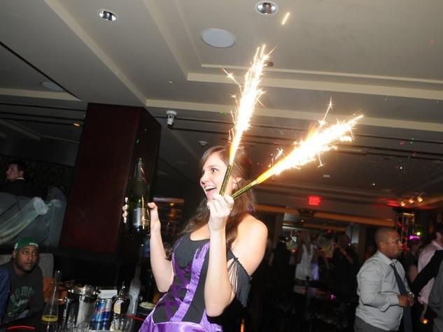 Hotel ZaZa Halloween party, October 2012, fireworks, champagne
