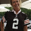 Debbie Hartman in Johnny Manziel jersey
