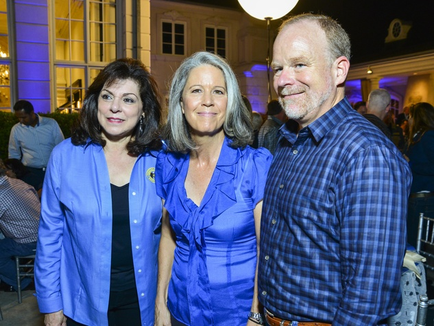 15 Laura Ward, left, with Lisa and Robert Miller at the True Blue Gala October 2013