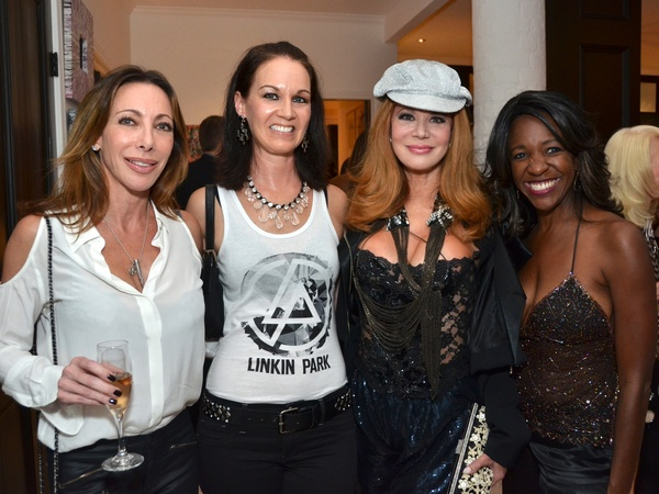 Richard Grieco, cocktail reception, September 2012, Lysa Elkins, Beth Muecke, Cindy Rose, Jacquie Baly