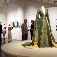 Making of Gone With the Wind at Harry Ransom Center Scarlett O'Hara Green Velvet Dressing Gown
