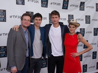 John Green, Nat Wolff, Ansel Elgort and Shailene Woodley from The Fault in Our Stars