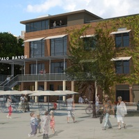 Sunset Coffee Building, renovation, rendering 2