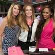 2 Tiffany Hawthorne, from left, Tracy Ladeveze and Brittany Henry at the Pink Party at Hotel ZaZa July 2014