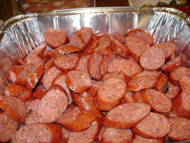 Gatlin's BBQ & Catering barbecue sausage with a kick