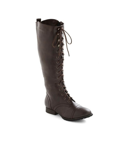 modcloth crossing borders lace up boot