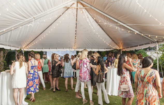 News, Marcy, Manor Launch Party, April 2015, Crowd under the tent