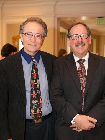 Dr. Peter Jensen, left, and Dr. Oscar Bukstein at the DePelchin Children's Center luncheon April 2014