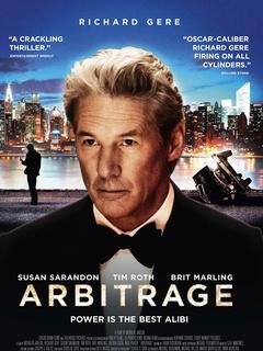 Arbitrage, movie poster, Richard Gere