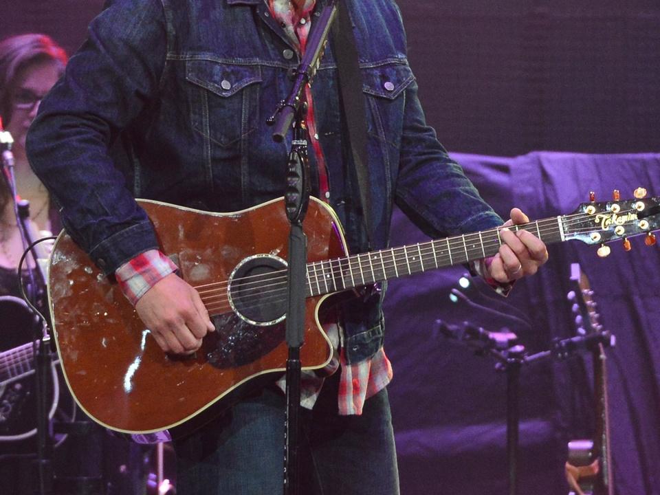 Blake Shelton RodeoHouston concert guitar March 2014