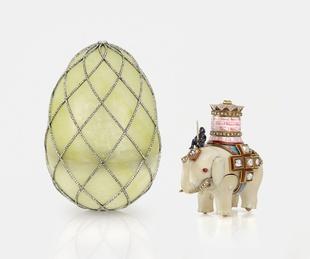 Fabergé: Royal Gifts featuring the Trellis Egg Surprise