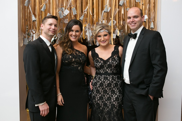 17 Mike and Sarah Sanders, from left, with Selby and Brad DeVault Junior League of Houston Gala February 2015