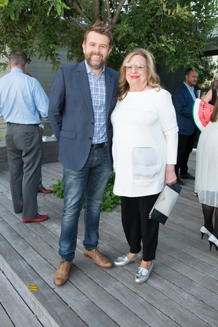 PaperCity launch party, 9/16, Danny Rolph, Barbara Davis