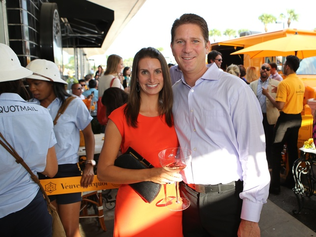 Shelley and Shawn Virene at Veuve Clicquot at Brasserie 19