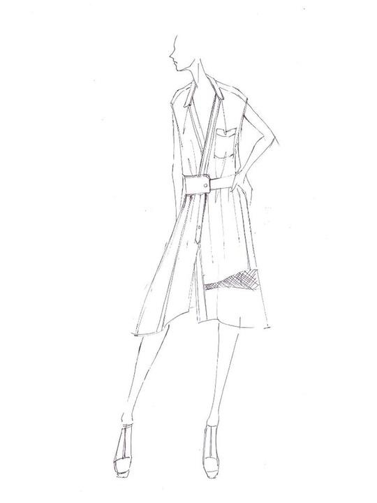Fashion Week spring summer 2014 BCBG Max Azria sketch